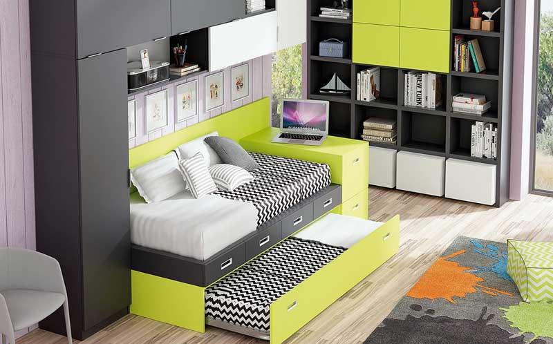 El chaflán, muebles y habitaciones juveniles