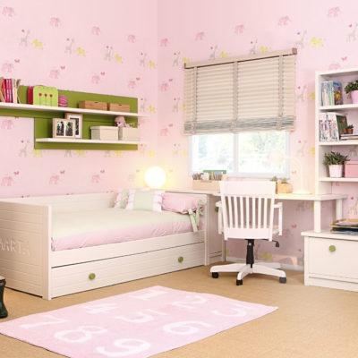 Mueble Juvenil con cama y escritorio - Dormitorio Juvenil - Asoral 4
