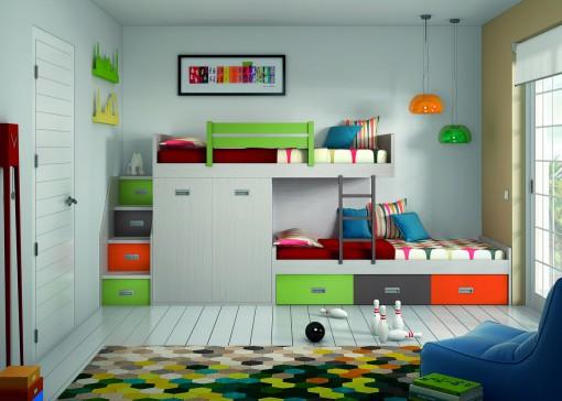 Literas divertidas cama para tres cama para tres nios - Literas infantiles divertidas ...