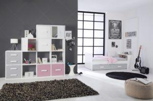 gris y blanco para pintar un dormitorio juvenil
