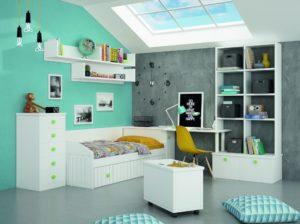 idea verde y gris para pintar una habitación juvenil