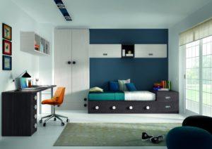 Azul y blanco para pintar habitación infantil