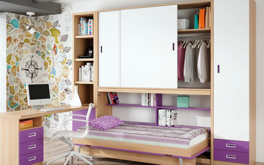 Camas abatibles horizontales o verticales: ¿cuál elegir para una habitación juvenil?