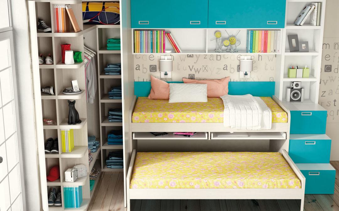 dormitorios infantiles con armario esquinero