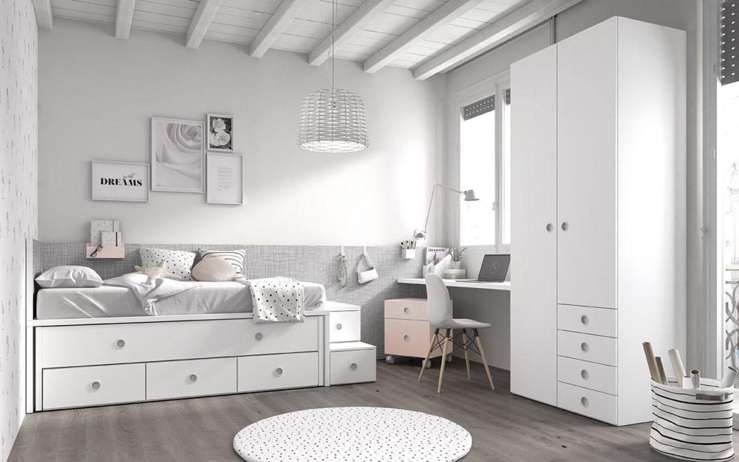 camas compactas para dormitorios juveniles